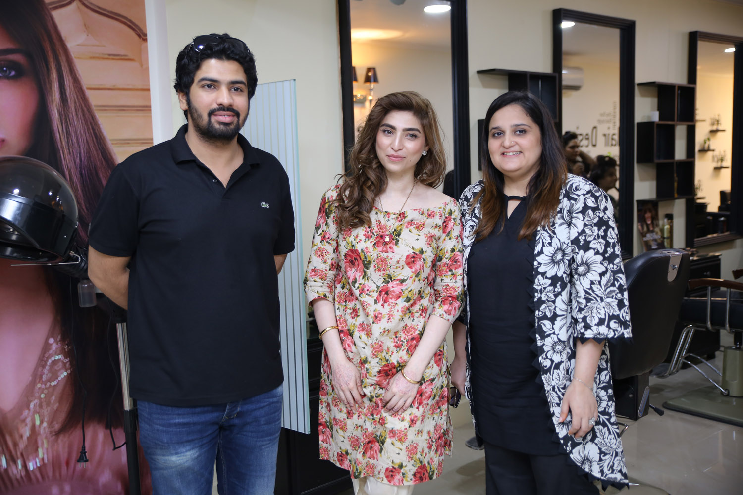 Ali Chaudhry, Sana Butt and Annam Burki