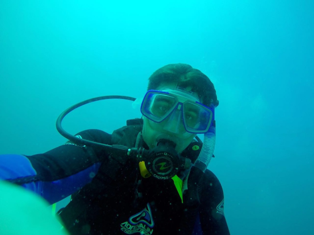 Turhan James Under Water of Great Barrier Reef