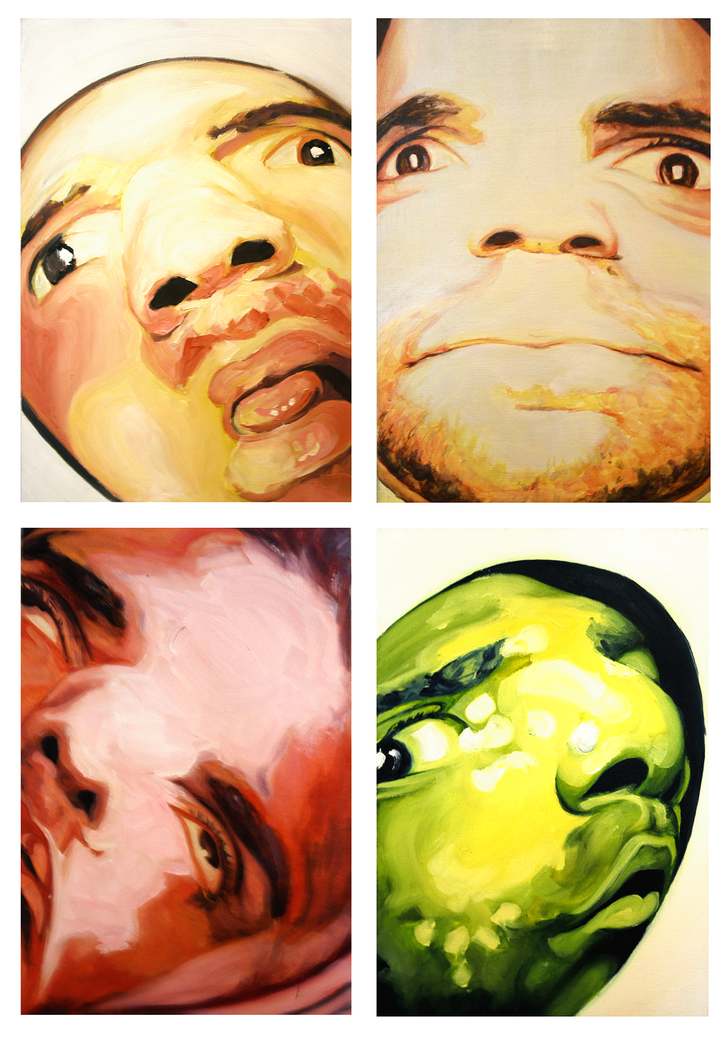 6-self-portraits-x4-oil-acrylic-on-canvas-board-1-x-1-5-2015