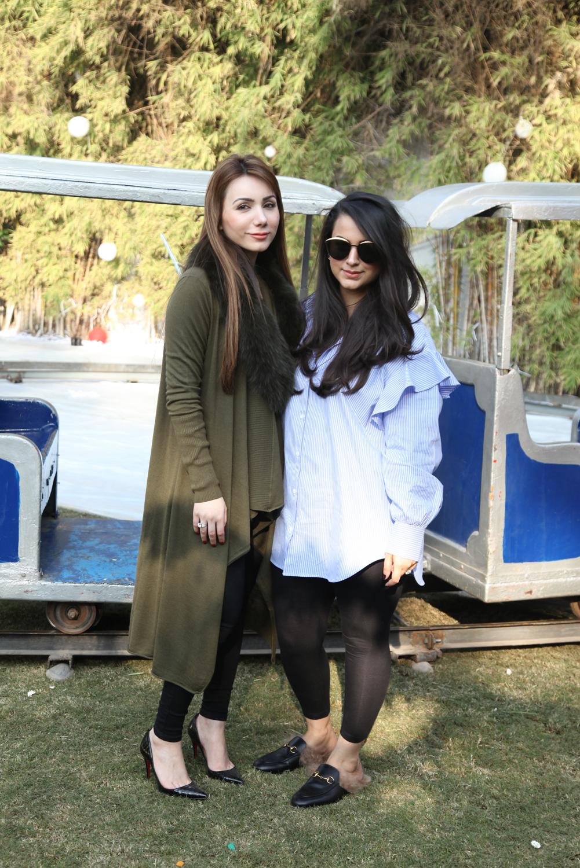 Alina Azam and Maha Hashmi