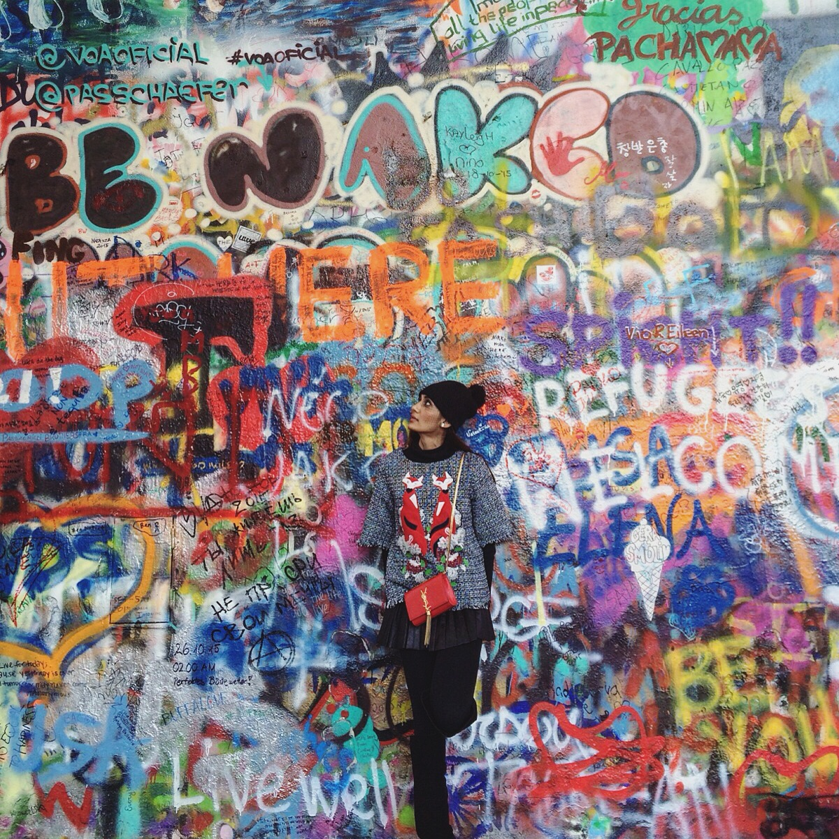 Lennon wall, Pttrague
