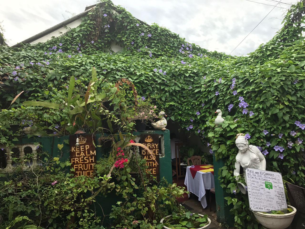 A quaint little restaurant in Galle