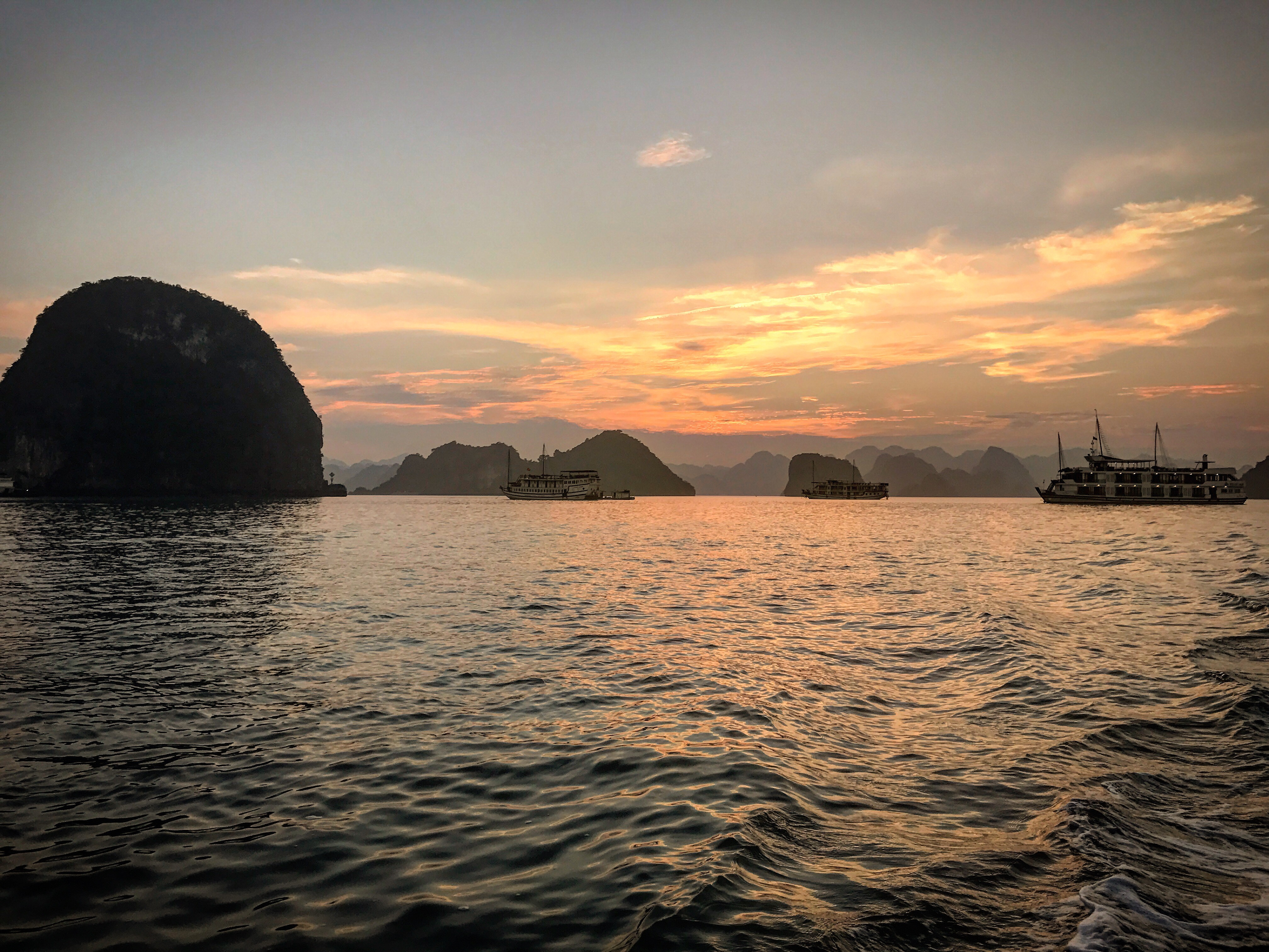 Another Sunset at Halong Bay Vietnam