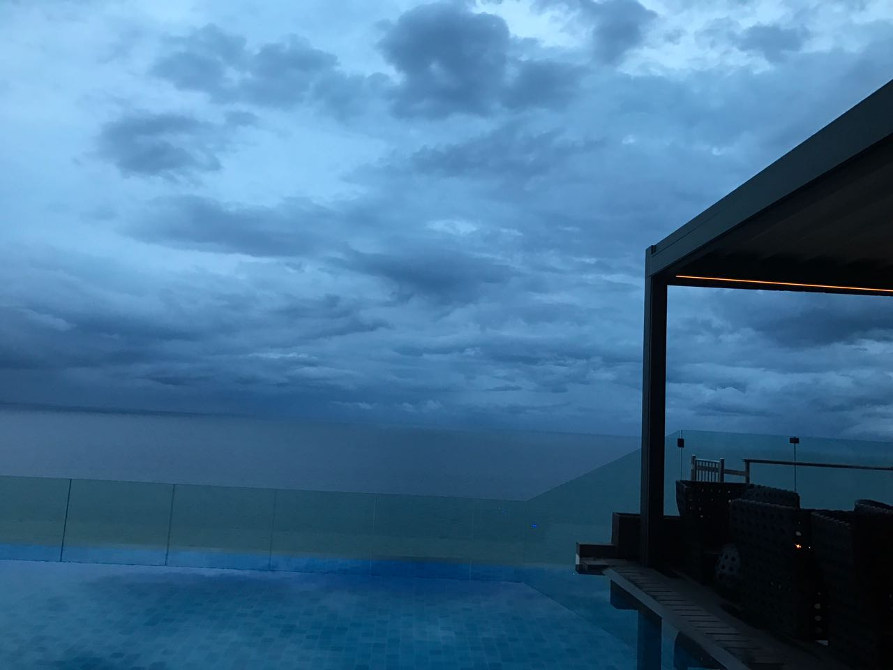 Merging Sea and Sky (rooftop restaurant in Colombo)