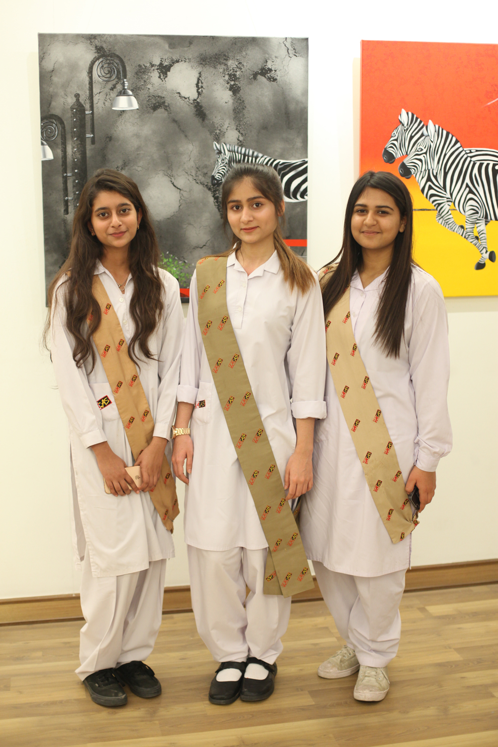 Amal, Laiba and Fariha.