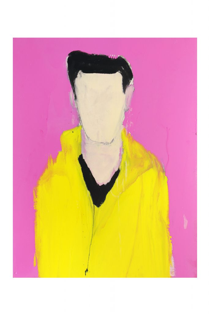 Samrose as Elvis, 2016, enamel paint on canvas, 106 x 137 cm