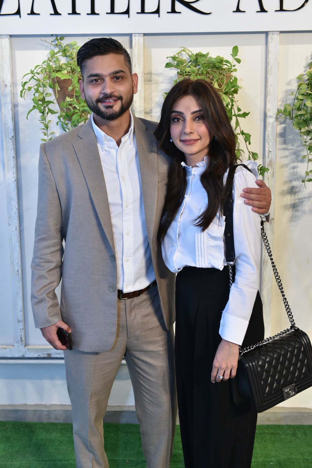 Mr and Mrs Zaheer Abbas