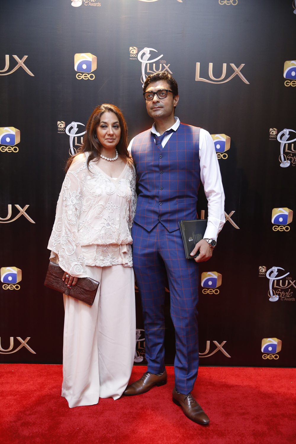 Ally Khan with Wife