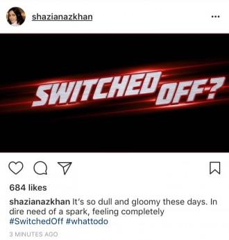 Shazia Naz Status Instagram