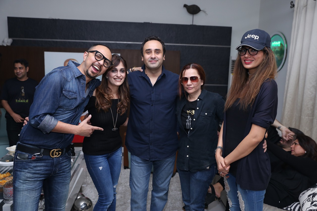Nomi Ansari, Mr. & Mrs. Wajahat Rauf with Guest & Rabia Butt