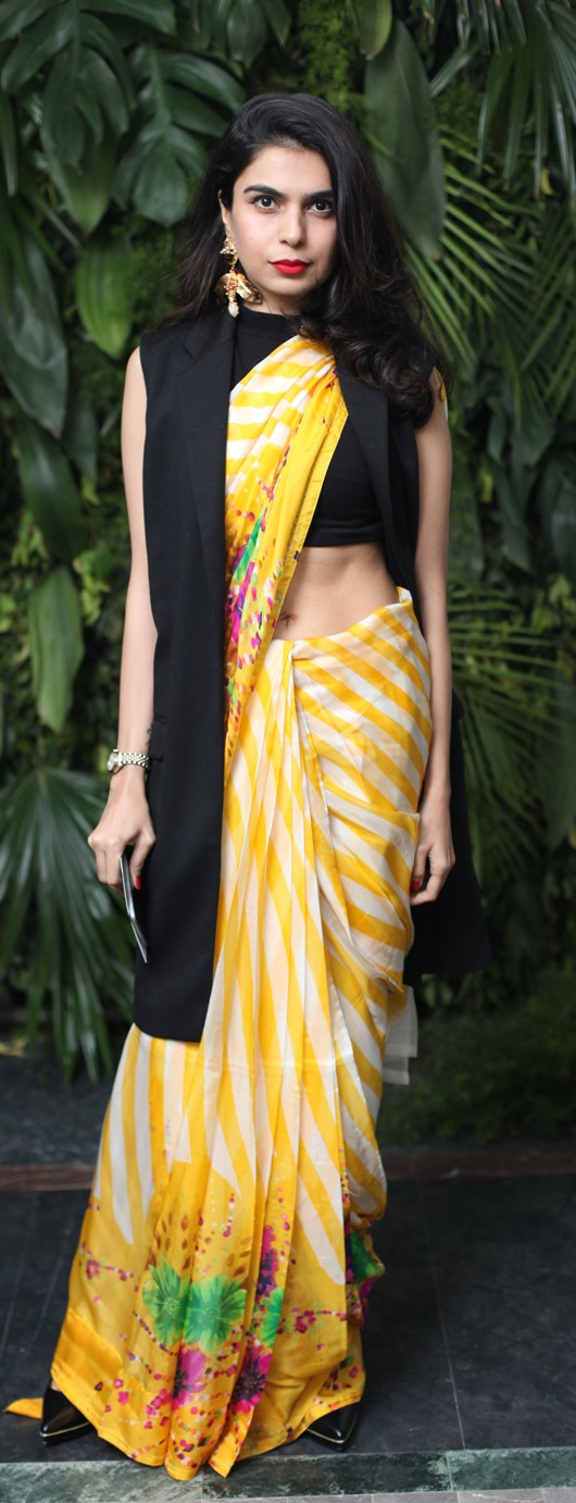 sarah-cheema-an-ethnic-sari-paired-with-a-high-street-jacket-can-this-girl-get-any-more-stylish