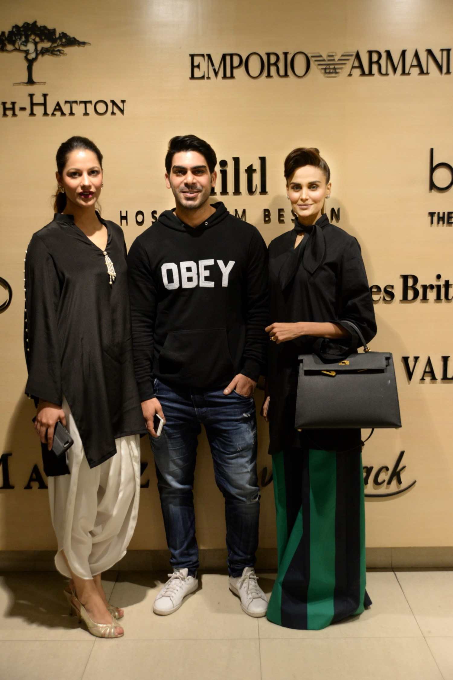 Cybil Chowdhry, Waleed Khalid and Mehreen Syed