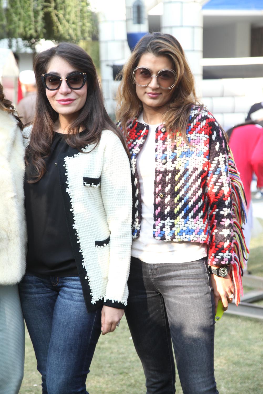 Salma Turab and Sabeen Saigol