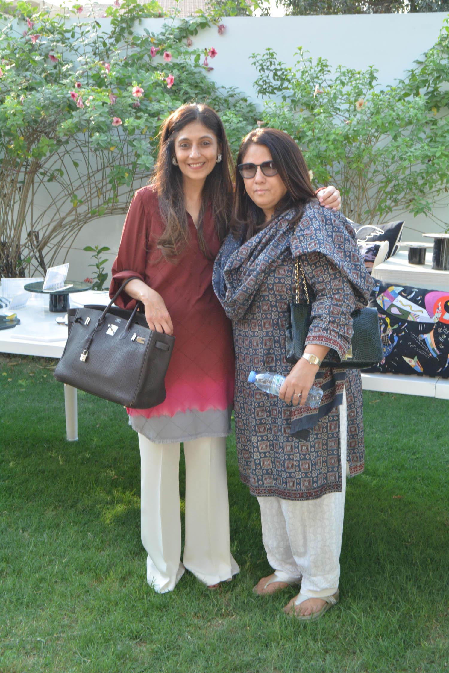 Shamsha Hashwani and Sabeena Deewan