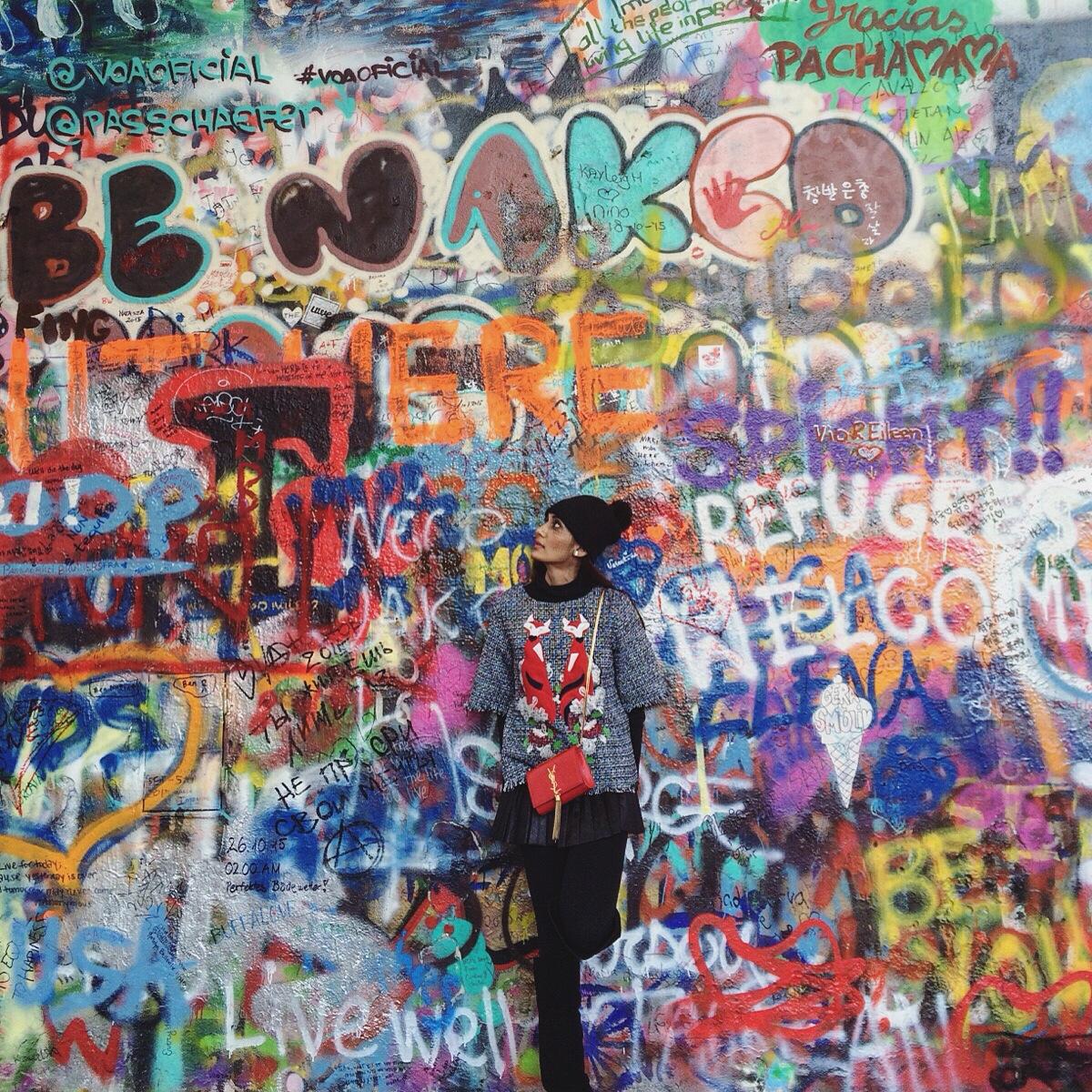 Lennon wall, Pttrague