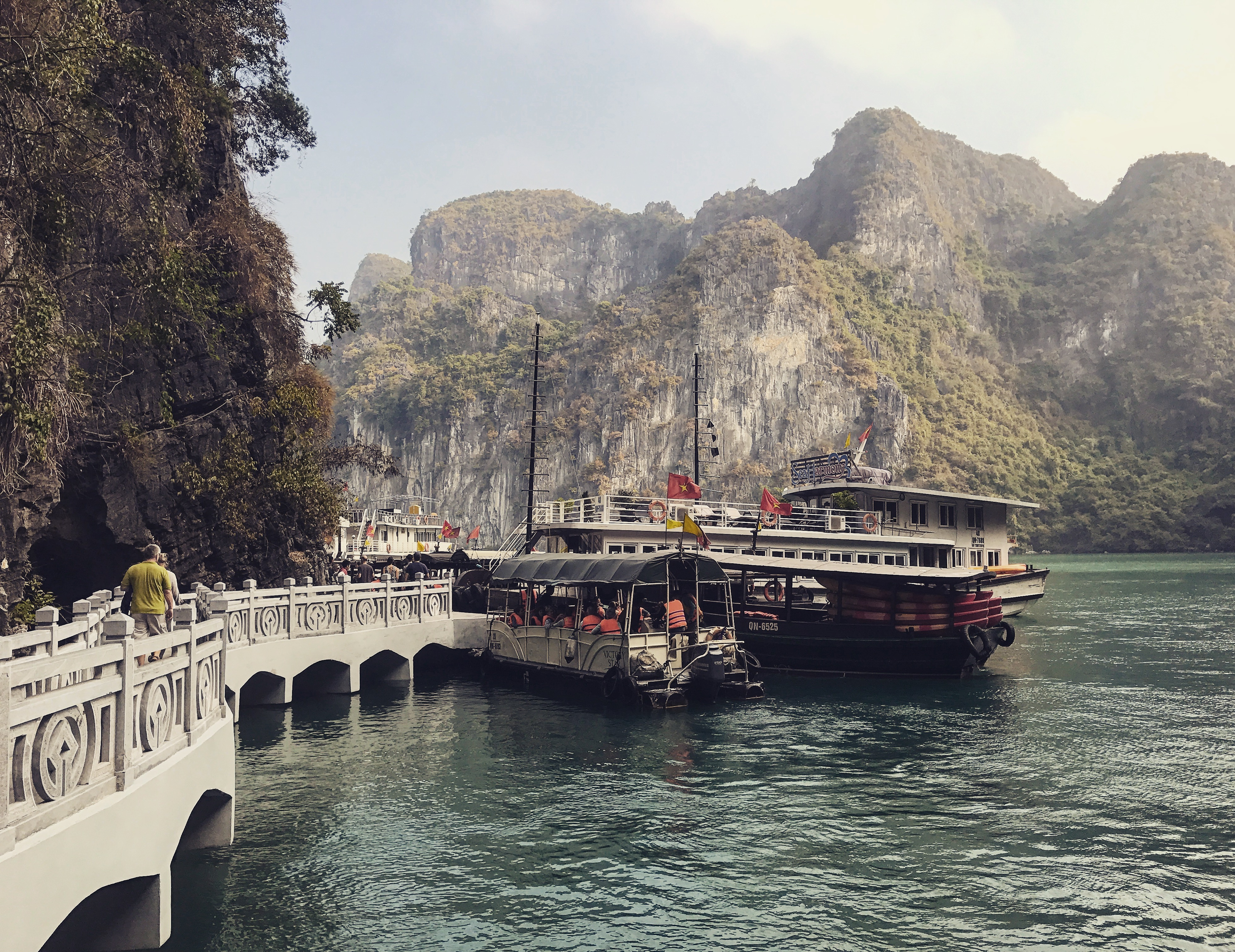 Leaving for a Boatride in Halong Bay Vietnam