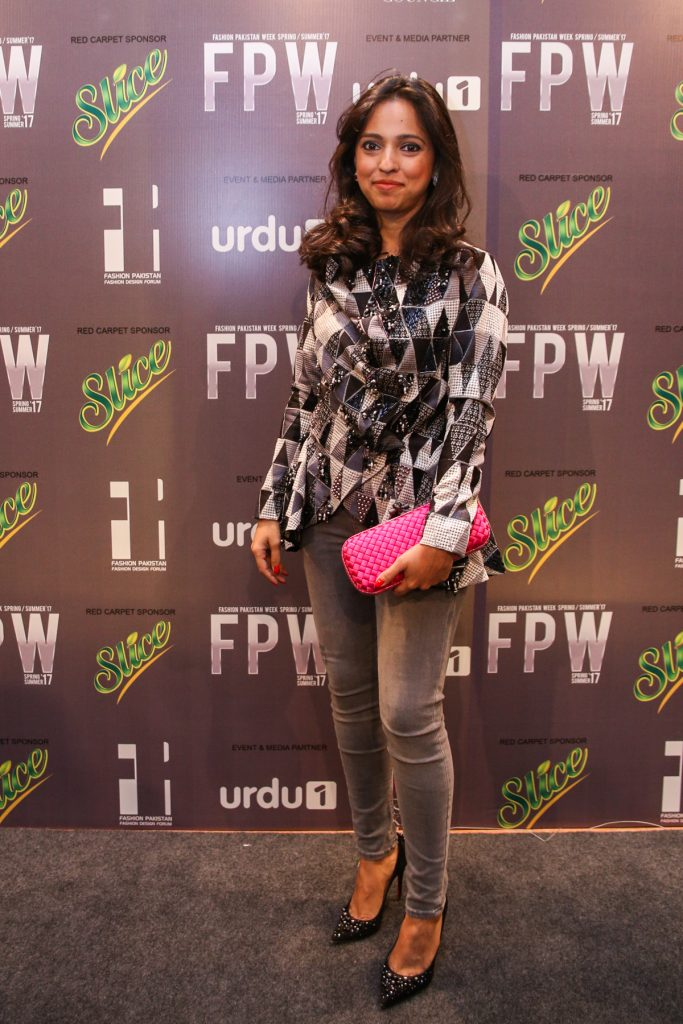Nida Azwer in her own design