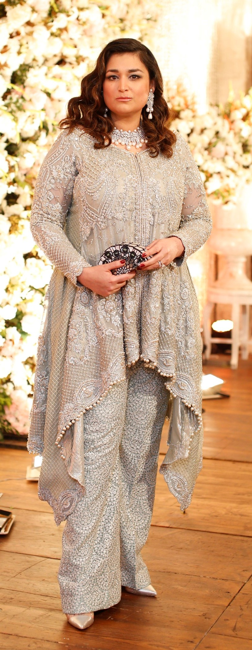 Shazia Deen - Shines bright in a Faraz Manan outfit and Neemar bling
