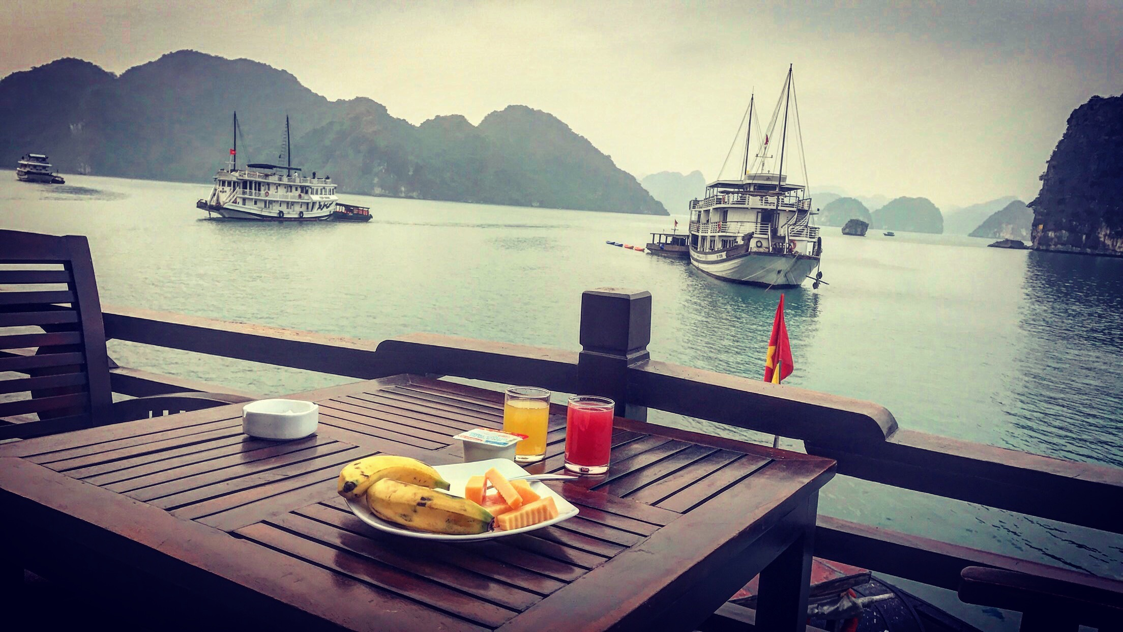 Typical Breakfast at the Halong Bay Cruise in Vietnam