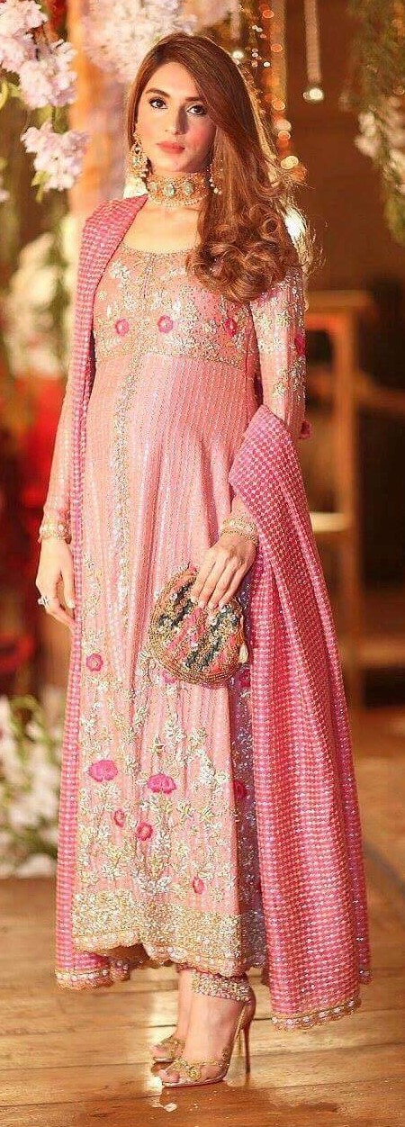 Zehra Saleem Pretty in pink in this floral creation from her label