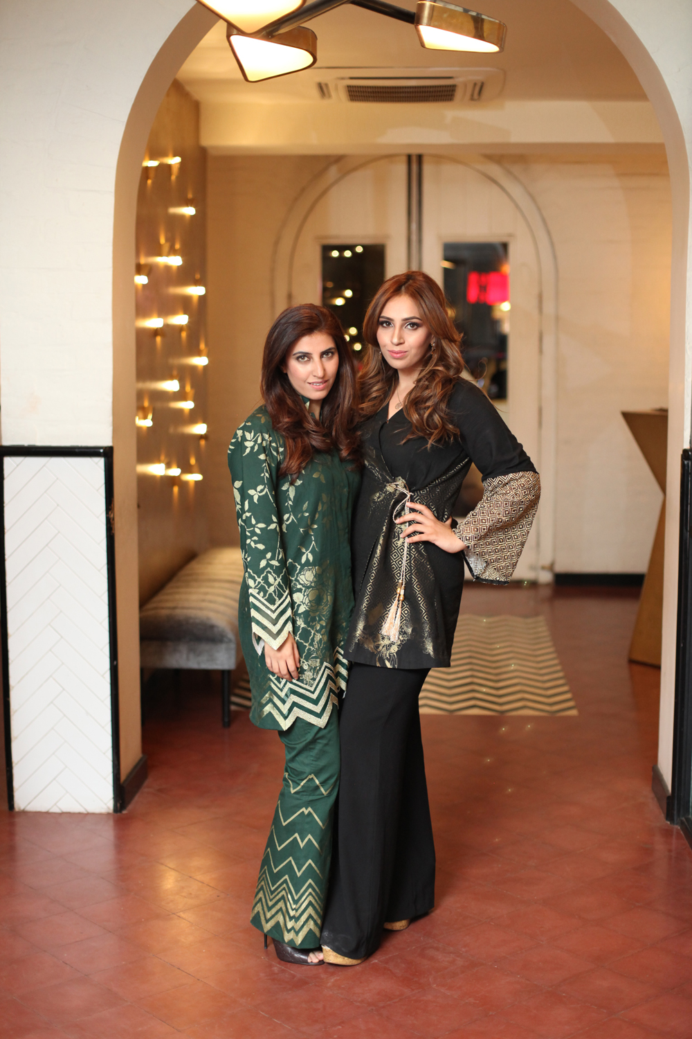 Salina Khan and Sumrina Khan