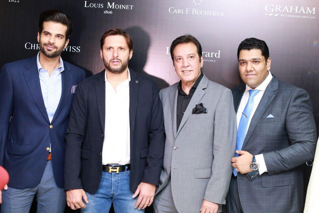 Adnan Malik, Shahid Afridi, Javed Sheikh and Zeeshan Hanif