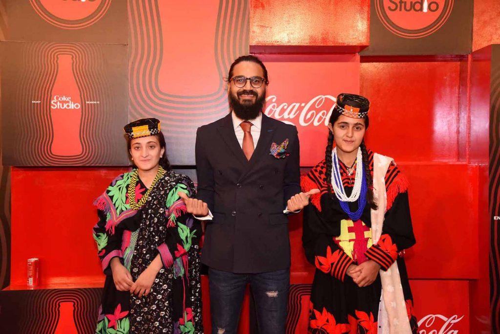 Hamza Ahmed with Ariana and Amrina