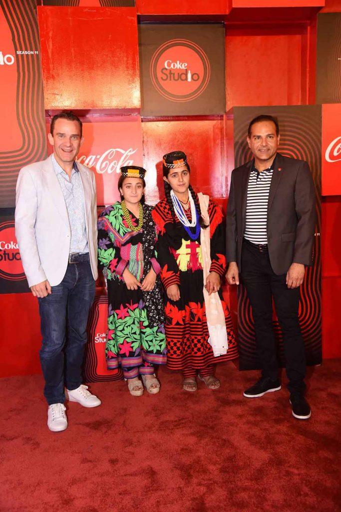 John Galvin and Ahmad Imran with Ariana and Amrina