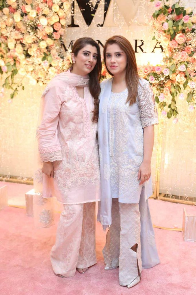 Maria Asif Baig and Alina Shahid wearing Manara by Maria Asif Baig