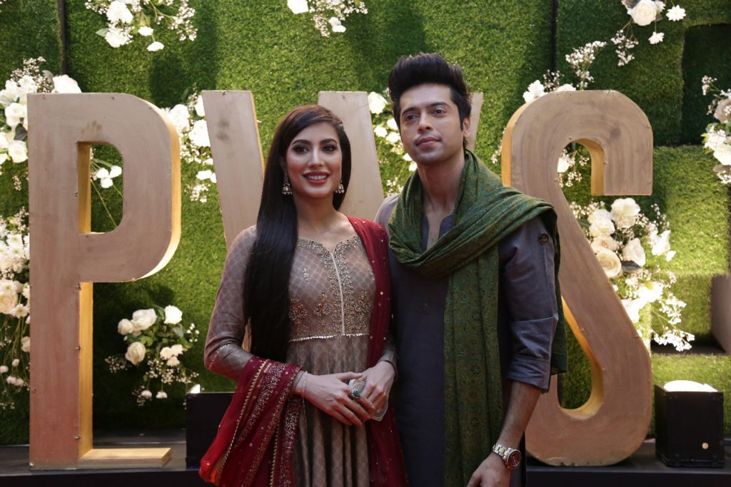 Mehwish Hayat and Fahad Mustafa on Day 2 of PWS in Lahore edition