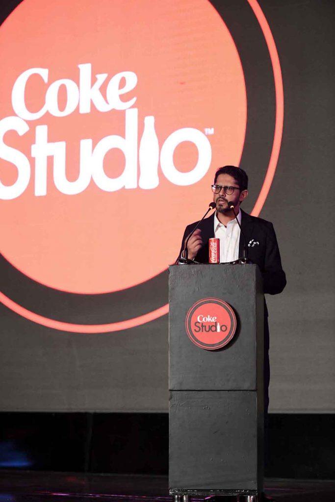 Mr. Abbas Arslan, Marketing Director - Coca-Cola Pakistan & Afghanistan addressing the audience