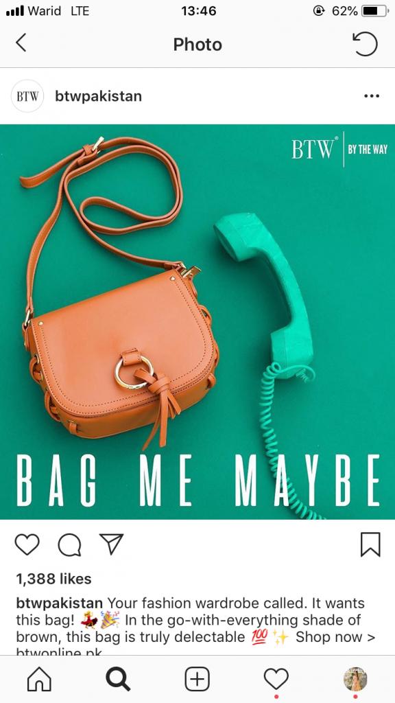 BTW bag
