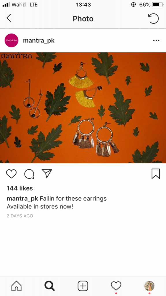 Mantra earrings (yellow)
