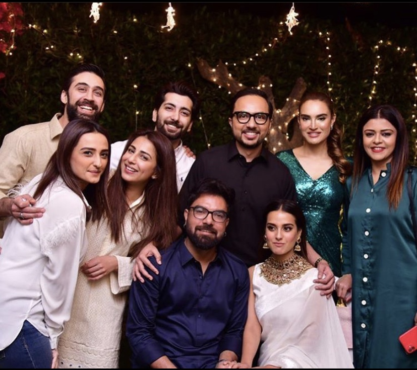 Iqra Aziz and Yasir Hussain with ali rehman
