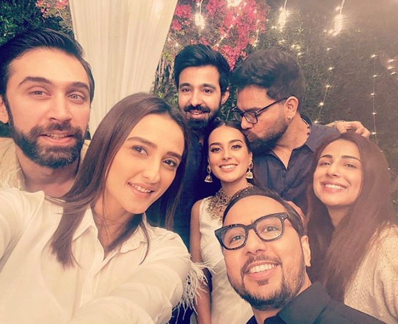 Iqra Aziz and Yasir Hussain with pakistani celebs